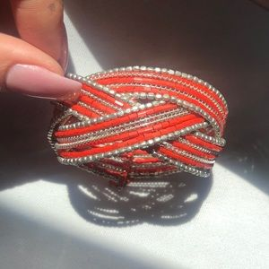Bohemian Orange bead bracelet Express